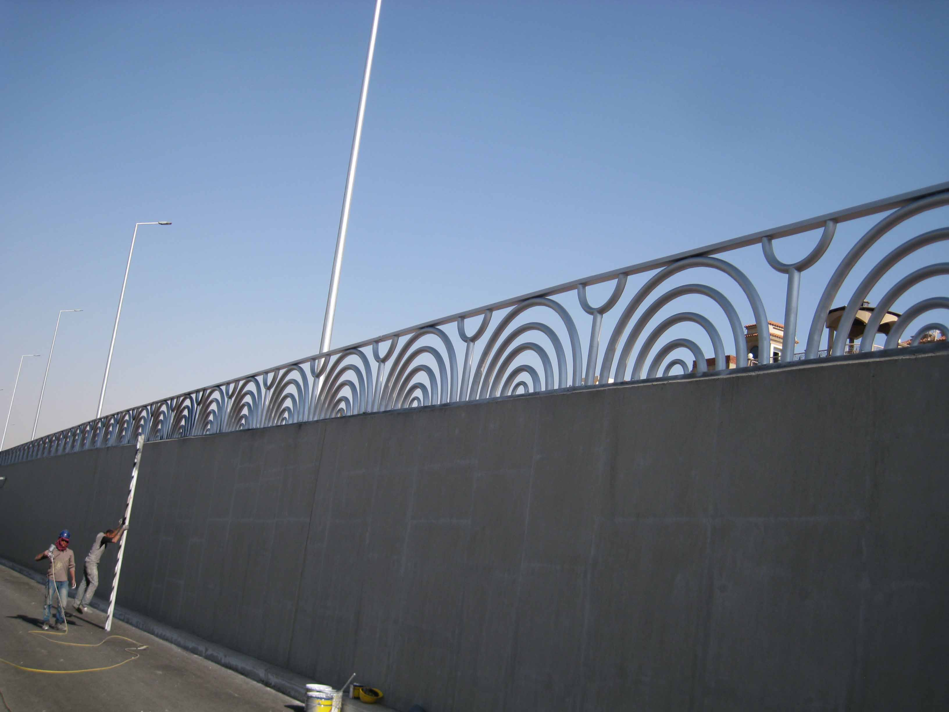 Handrail of Downtown tunnel project (15)