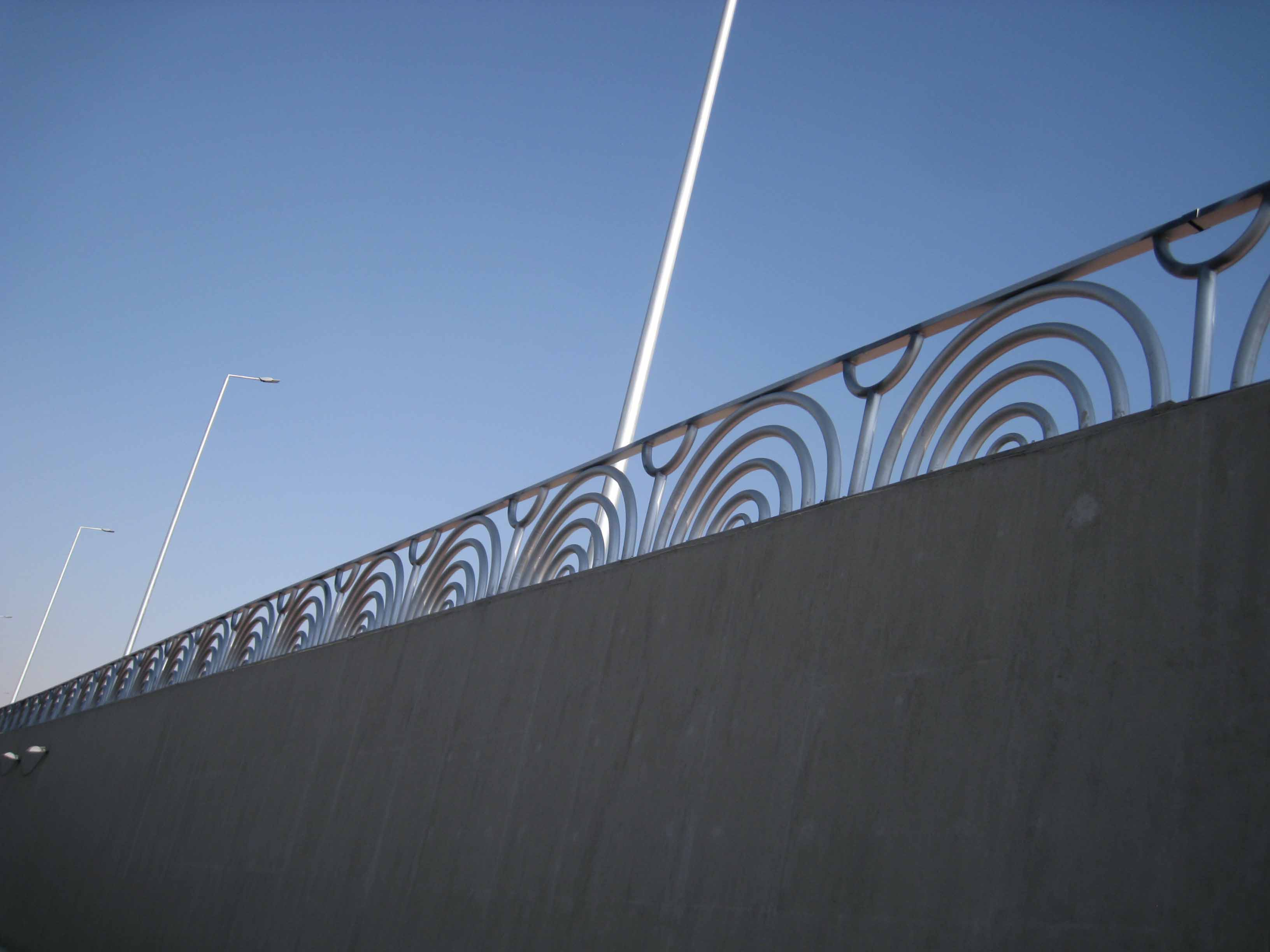 Handrail of Downtown tunnel project (18)