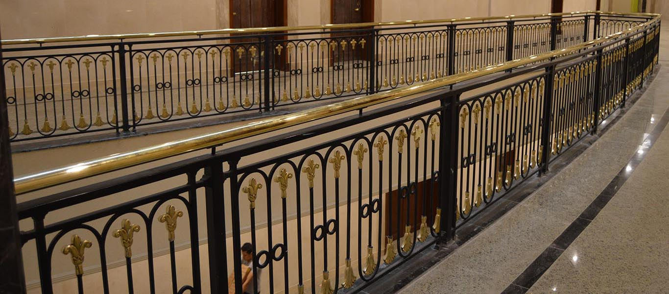 Brass Stair Handrail